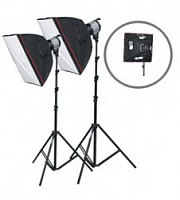 Fancier Fan102 Twin SoftBox Kit Комплект постоянного галогенного света