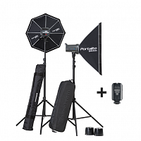 Комплект света Elinchrom D-Lite RX-4 400/400 SoftBox ToGo Set